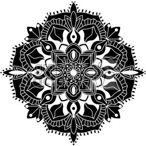 mandala geometric vector design 006 clipart. Royalty-free image # 403308