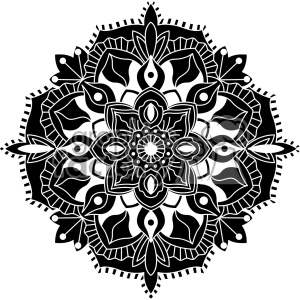 mandala vector design clipart. Commercial use image # 403328