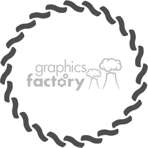 circle chain design vector clipart. Royalty-free image # 403338