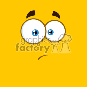 10902 Royalty Free RF Clipart Surprisingly Cartoon Square Emoticons With Expression Vector With Yellow Background clipart. Commercial use image # 403626