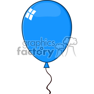 10750 Royalty Free RF Clipart Cartoon Blue Balloon Vector Illustration clipart. Royalty-free image # 403656