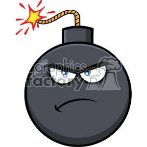 10816 Royalty Free RF Clipart Angry Bomb Face Cartoon Mascot Character With Expressions Vector Illustration clipart. Commercial use image # 403671
