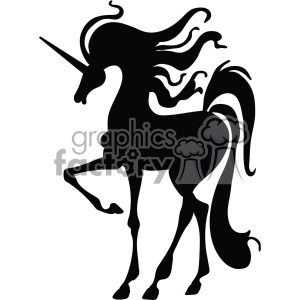 unicorn silhouete svg cut file 9 clipart. Royalty-free image # 403728