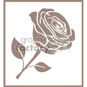 outline of rose svg cut file clipart. Royalty-free image # 403786