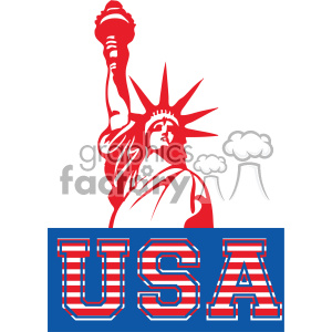 4th of july statue of liberty vector icon