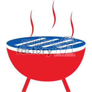 4th of july bbq grill vector icon