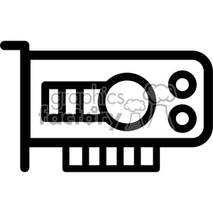 computer graphics gpu card icon