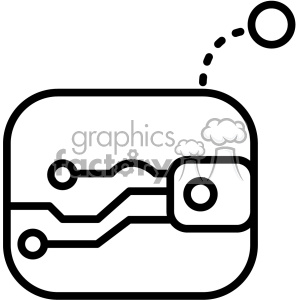 computer circut network icon clipart. Royalty-free image # 403823