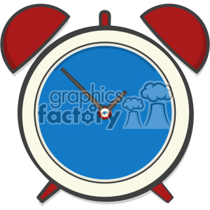 Alarm clock clip art vector images clipart. Royalty-free image # 403873