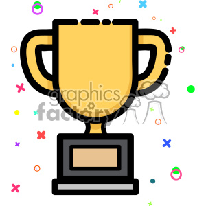 Trophy vector clip art images clipart. Royalty-free image # 403878