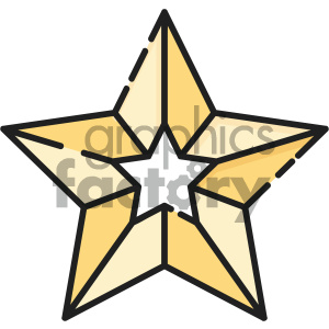 christmas star vector icon clipart. Royalty-free image # 403974