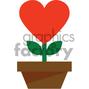 love heart growing naturally icon