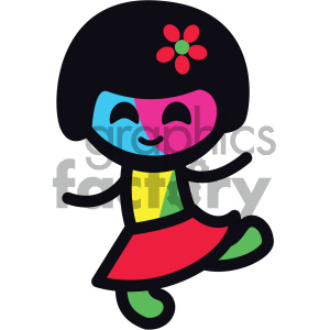 running sticker character girl clipart. Commercial use image # 404085