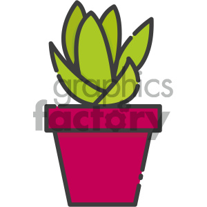 Succulent vector art clipart. Royalty-free icon # 404100