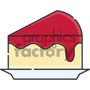 slice of cheesecake vector art clipart. Royalty-free image # 404113