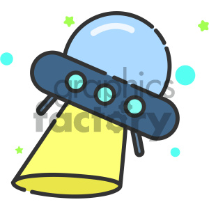 Spaceship vector art clipart. Commercial use image # 404130