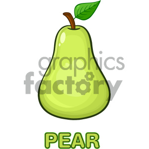 cartoon food mascot character vector happy fun summer pear