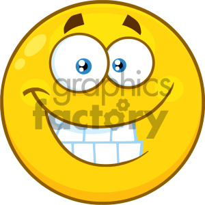 Royalty Free RF Clipart Illustration Funny Yellow Cartoon Smiley Face Character With Smiling Expression And Protruding Tongue Vector Illustration Isolated On White Background clipart. Commercial use image # 404488