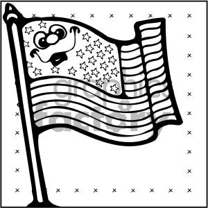 vector art patriotic flag 003 bw clipart. Royalty-free image # 404711
