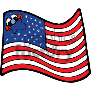 vector art american flag 001 c clipart. Royalty-free image # 404717