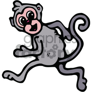 cartoon animals vector PR monkey