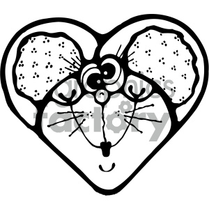 cartoon clipart mouse 004 bw clipart. Commercial use image # 404787