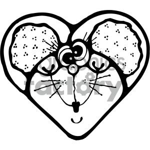 clipart - cartoon clipart mouse 004 bw.