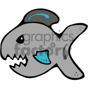 cartoon clipart shark 003 c clipart. Royalty-free image # 404793