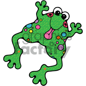 cartoon clipart frog 001 c clipart. Royalty-free image # 404813