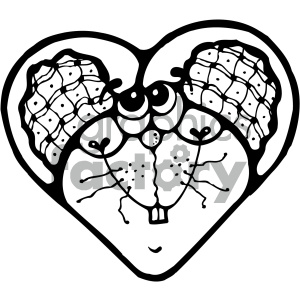 cartoon clipart mouse 003 bw clipart. Royalty-free image # 404817