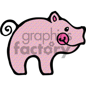 cartoon clipart Noahs animals pig 010 c clipart. Royalty-free image # 404857