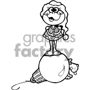cartoon clipart frog 007 bw clipart. Royalty-free image # 404947