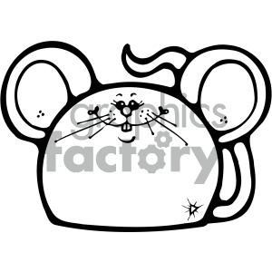 cartoon clipart gumdrop animals 003 bw clipart. Royalty-free image # 404967