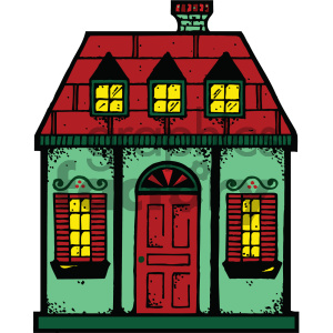 cartoon buildings architecture vector house townhouse home PR