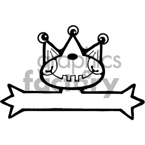 vector art monster 002 bw clipart. Commercial use image # 405054