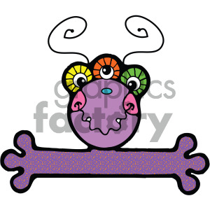 vector art monster 003 c clipart. Royalty-free image # 405059