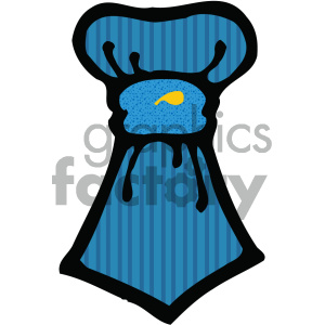 cartoon cloths clothing tie ties blue PR