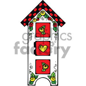 furniture cabinet vector art clipart. Royalty-free image # 405123