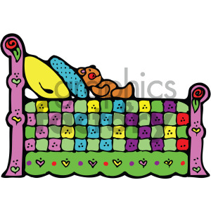 cartoon bed clipart clipart. Commercial use image # 405148