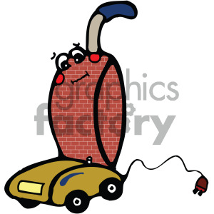 cartoon vacuum cleaner vector art clipart. Commercial use image # 405170
