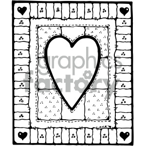 black white heart design clipart. Commercial use image # 405180