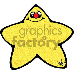 cartoon star vector art clipart. Commercial use image # 405225