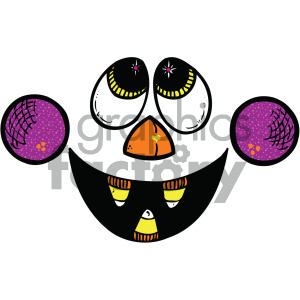 scary funny face vector art clipart. Royalty-free image # 405287