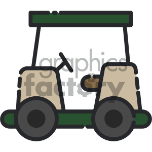 golf cart vector art clipart. Royalty-free icon # 405411