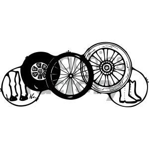 wheels black white clipart. Royalty-free icon # 405439