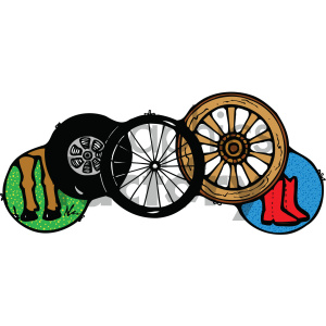 collection of wheels art clipart. Royalty-free image # 405449