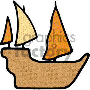 ship vecor art clipart. Commercial use image # 405460