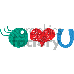 I love you word art clipart. Royalty-free image # 405481