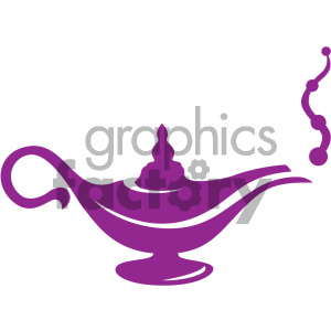 genie in a lamp vector icon clipart. Royalty-free image # 405488