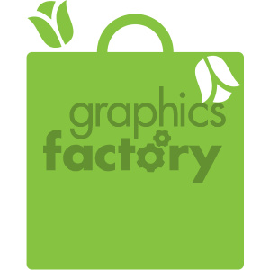 green shopping bag vector icon clipart. Commercial use image # 405500